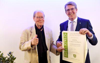 13-04-2018: Heiner Friedrich mit Kulturpreis der Stadt Traunreut ausgezeichnet
