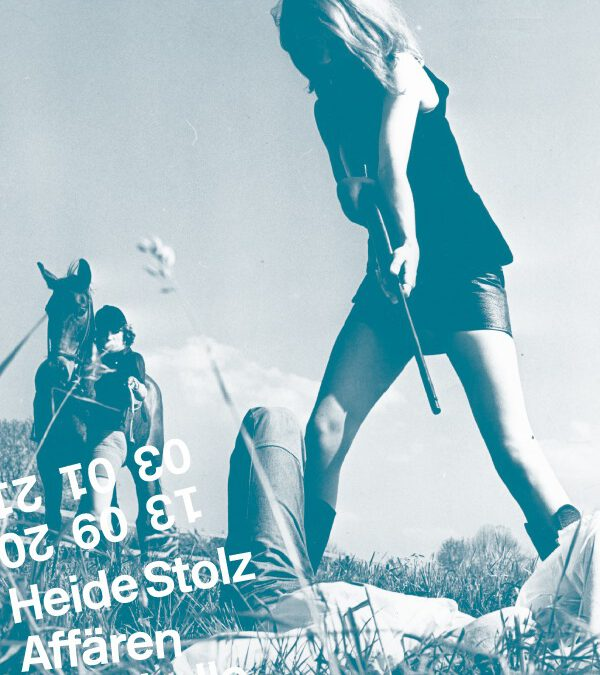 """18-09-2020: """"Heide Stolz. Affären"""" in der Kunsthalle Darmstadt"""